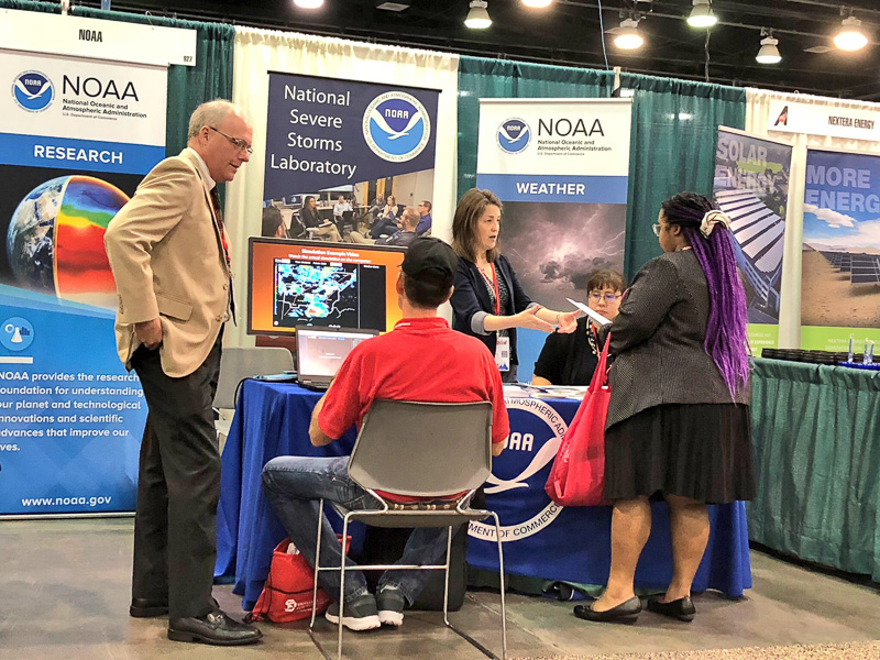 NSSL booth at AISES conference