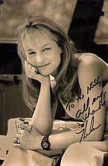 Helen Hunt signed a photograph thanking NSSL for what we do