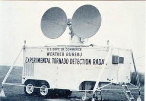 The Weather Bureau's first experimental Doppler Radar unit
