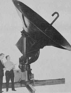 Antenna for new WSR-57 weather radars, the first of which was to be installed in Miami. In: Weather Bureau Topics, Febuary 1959, p. 27.