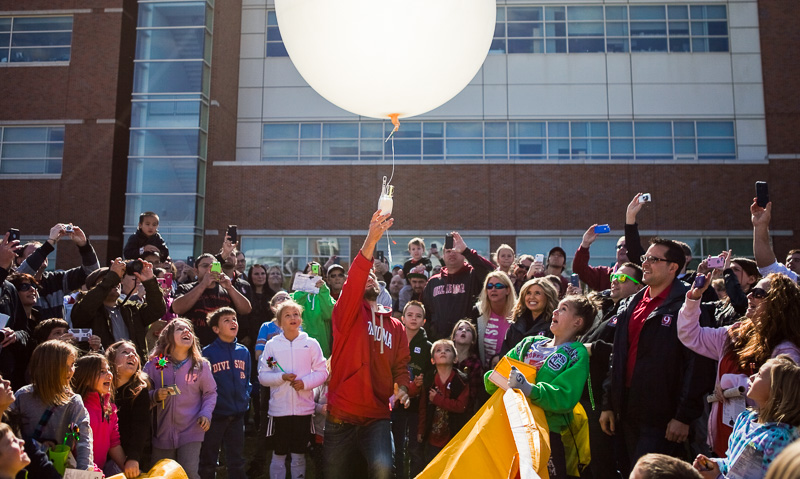 Balloon launch at National Weather Festival