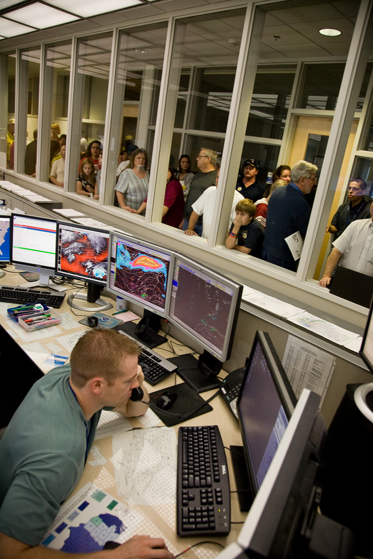 NWF visitors tour the Storm Prediction Center