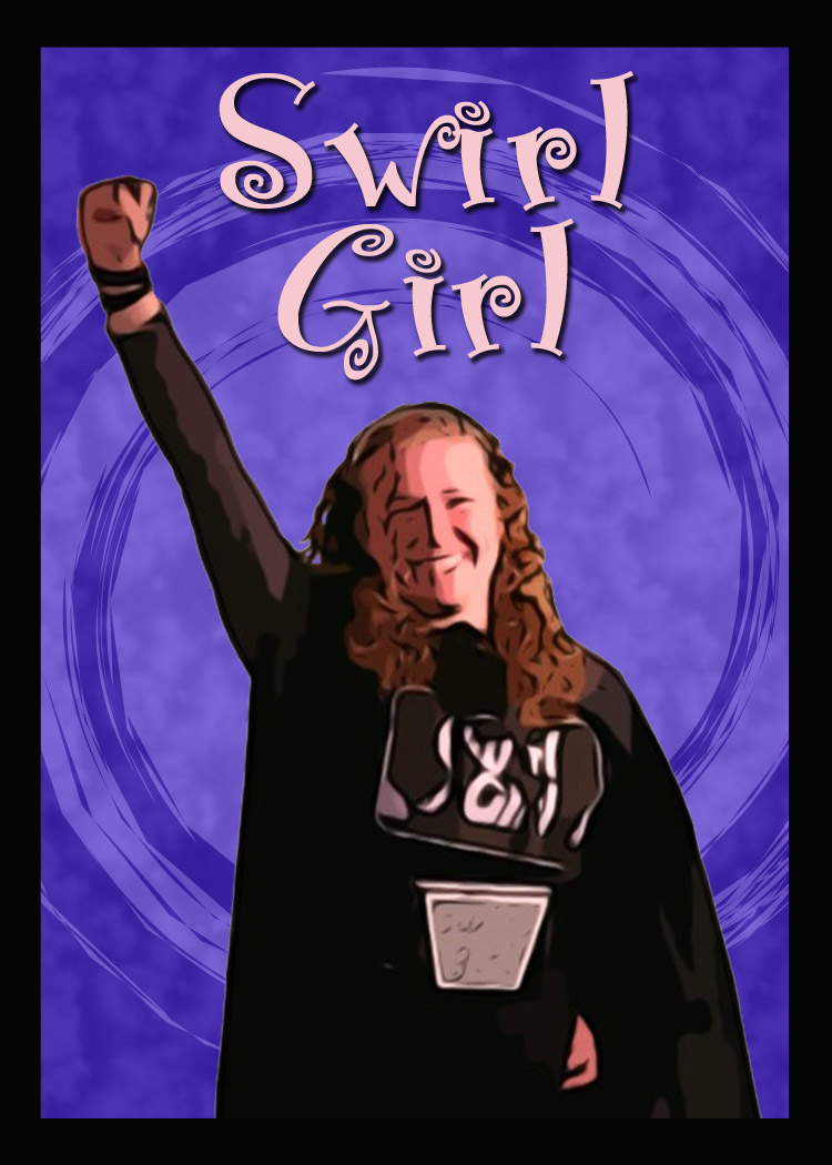 Swirl Girl card front