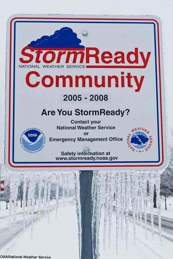 Storm Ready Community sign