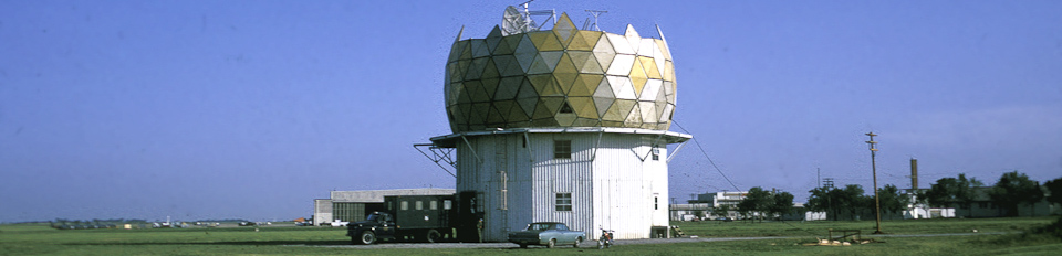 First WSR-88D Doppler Radar building under construction in 1969