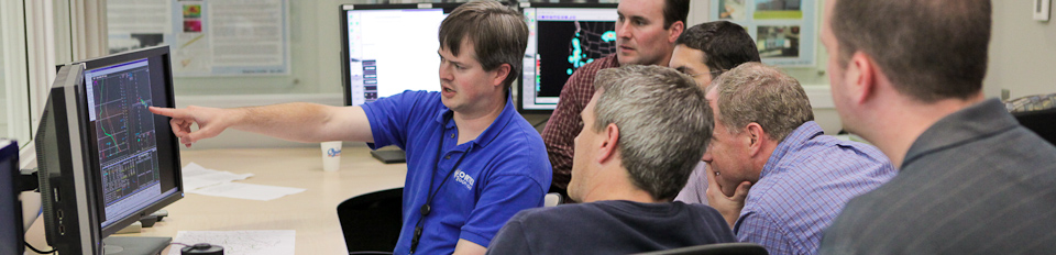 Former NRC Postdoc, Dan Dawson, in the Hazardous Weather Testbed