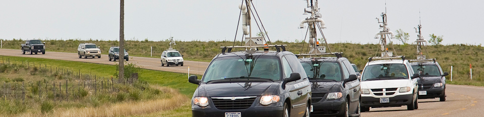 NSSL Mobile Mesonet vehicles in the field for VORTEX2
