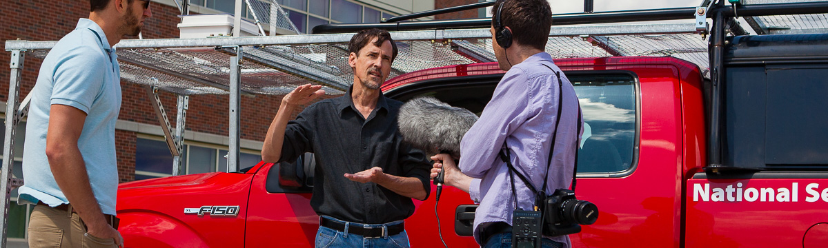 NSSL researcher interviewed on VORTEX2 media day