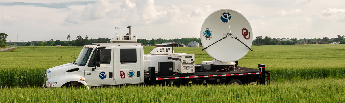 NO-XP radar truck in the field. No, really, in a field.