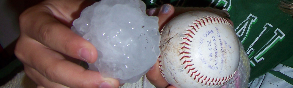 Baseball-sized hail
