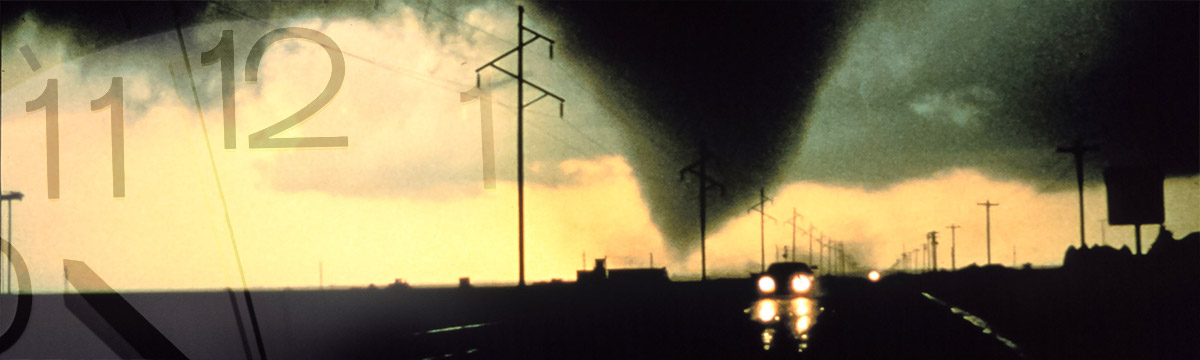 Tornado near highway