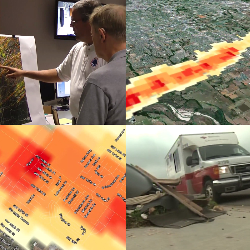 First responders use rotation track data to plan recovery efforts.