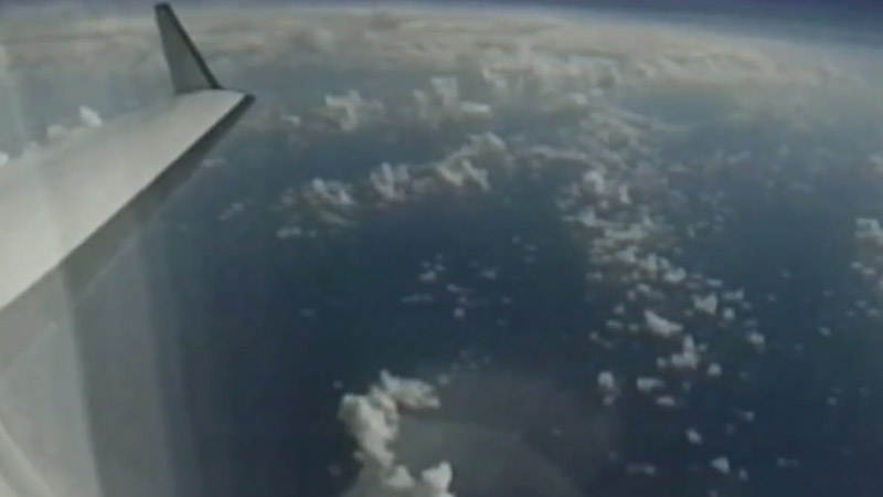 View from the P-3 aircraft