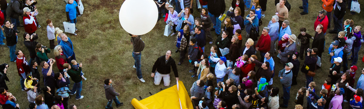 Weather balloon launch at the National Weather Festival