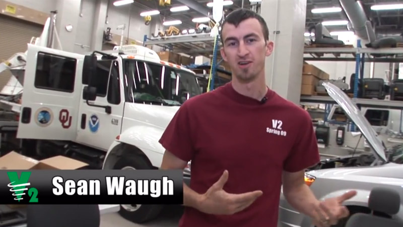 Sean Waugh in the NSSL vehicle bay