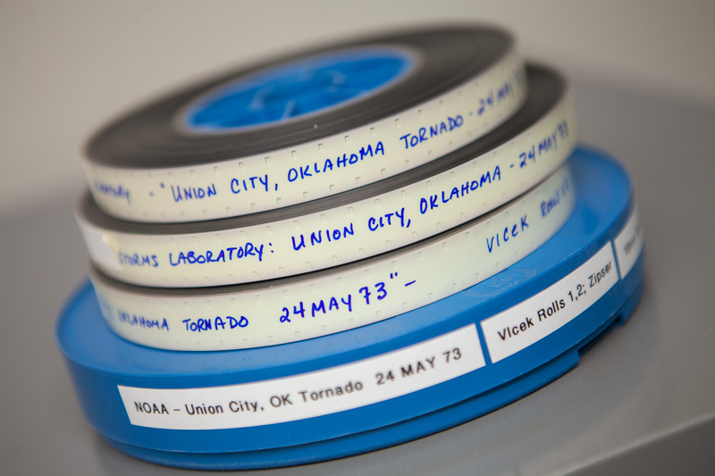 Reels of archival film