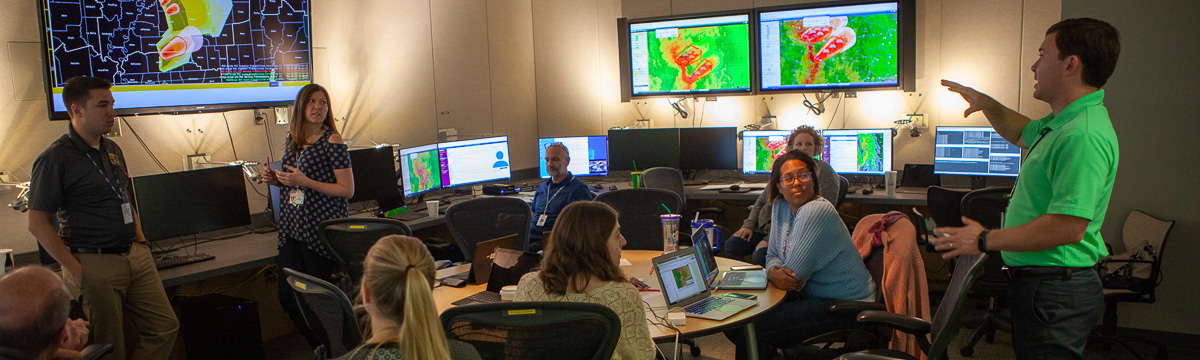 Meteorology students at the National Weather Center