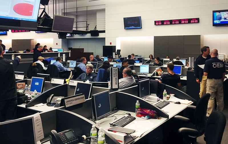 NYC emergency operations center