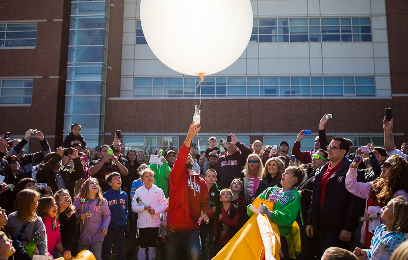 Balloon launch at the National Weather Festival