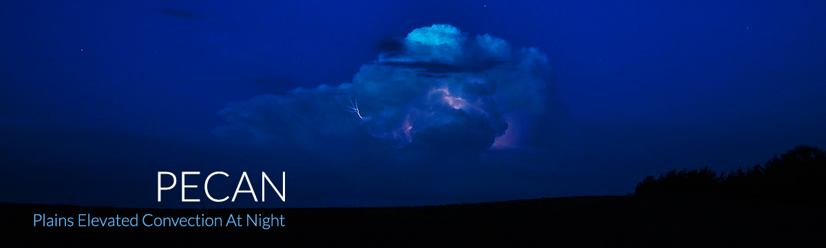 PECAN: Plains Elevated Convection at Night, photo of nighttime thunderstorm