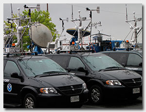 NO-XP radar and NSSL field command vehicle go out to meet Hurricane Ike
