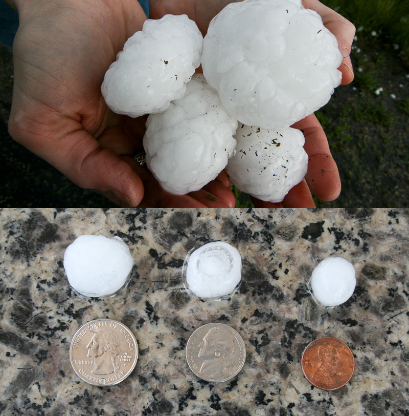Big hail and small hail